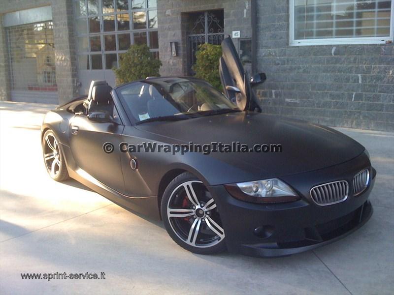 Foto-pellicola-nero-opaco-BMW-Z4